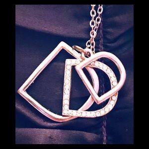 """Jewelry - Silvertone Initial """"D"""" Necklace"""